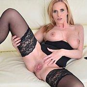 Blonde Milf Liili Peterson In Stockings