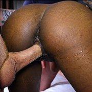 Black Gets White Guy Creampie