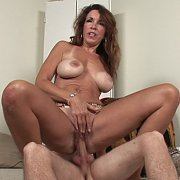 Tan Lines Busty Mature Gets Stud Cock