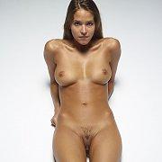 Slippery Sultry Nude Brunette Silvie