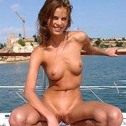 Near Waif Model Vika On A Sail Boat
