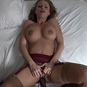 Busty Blonde Cougar Vs Big Black Cock with Britney Amber
